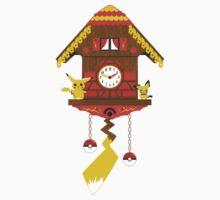 Pikachu-chu Clock by Kannaya