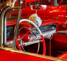 1957 Chevrolet Beauty In Red by Bob Christopher