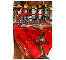 1959 Cadillac At The Pumps Poster
