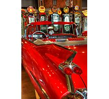 1959 Cadillac At The Pumps Photographic Print