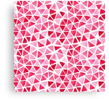 Imperfect Geometry Triangles Canvas Print