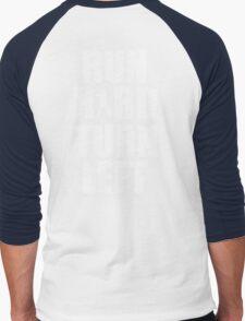 Run Hard, Turn Left Men's Baseball ¾ T-Shirt