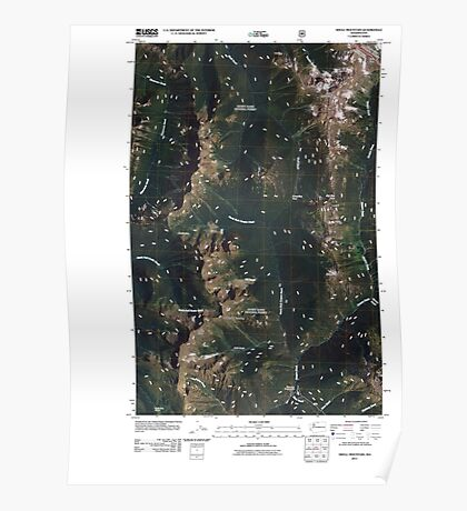 USGS Topo Map Washington State WA Shull Mountain 20110509 TM Poster