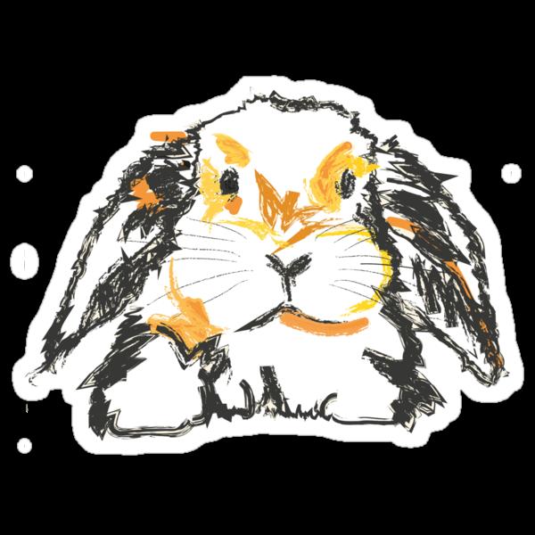 Cute T-shirt Rabbit Jon by Go van Kampen