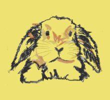 Cute T-shirt Rabbit Jon One Piece - Short Sleeve