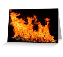 Firey Explosion Greeting Card