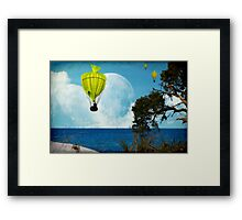 Yellow Fish_Balloons Framed Print