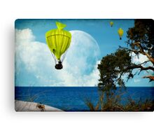 Yellow Fish_Balloons Canvas Print