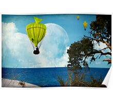 Yellow Fish_Balloons Poster