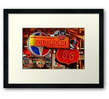 Vintage Neon Signs Framed Print