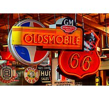 Vintage Neon Signs Photographic Print
