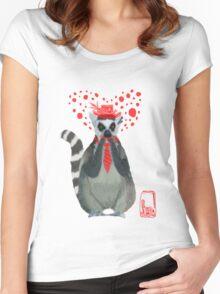 Lemur♥ Women's Fitted Scoop T-Shirt