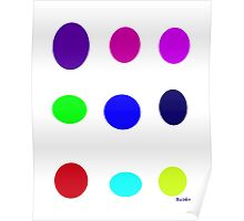 Colored Eggs Poster