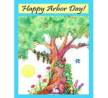 HAPPY ARBOR DAY Photographic Print