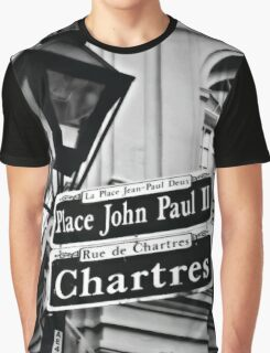 New Orleans Street Sign Graphic T-Shirt