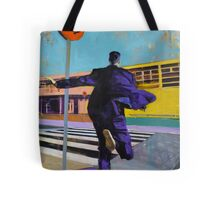 """'What is it you run away from and run towards at the same time?"""" Tote Bag"""
