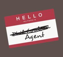Hi, my name is... Agent? (Red) One Piece - Short Sleeve
