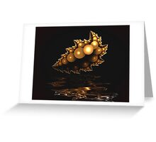 Gold Leaf Reflections Greeting Card