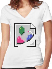 BROKEN IMAGE LINK Women's Fitted V-Neck T-Shirt