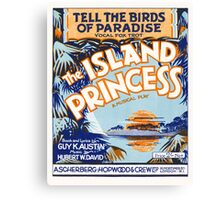 TELL THE BIRDS OF PARADISE (vintage illustration) Canvas Print