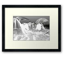 White World (not grungy) Framed Print