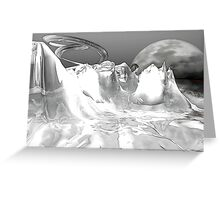 White World (not grungy) Greeting Card