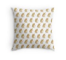Golden oldies wallpaper Throw Pillow