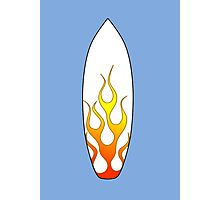 Surfboard Flames Photographic Print