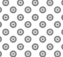 Eiffel Tower flower wallpaper - black on white by funkyworm