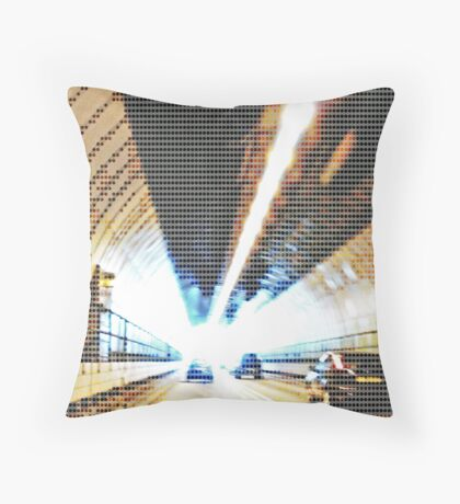 Travelling down digital pipelines Throw Pillow