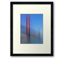 Golden Gate Bridge in Motion Framed Print