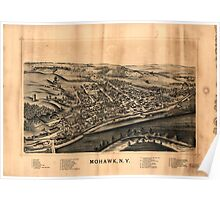 Panoramic Maps Mohawk NY Poster