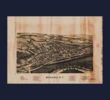 Panoramic Maps Mohawk NY Kids Tee