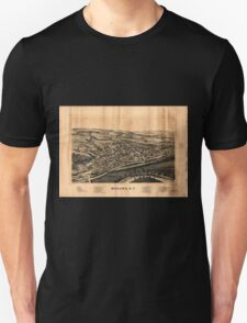 Panoramic Maps Mohawk NY Unisex T-Shirt
