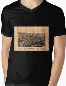 Panoramic Maps Mohawk NY Mens V-Neck T-Shirt