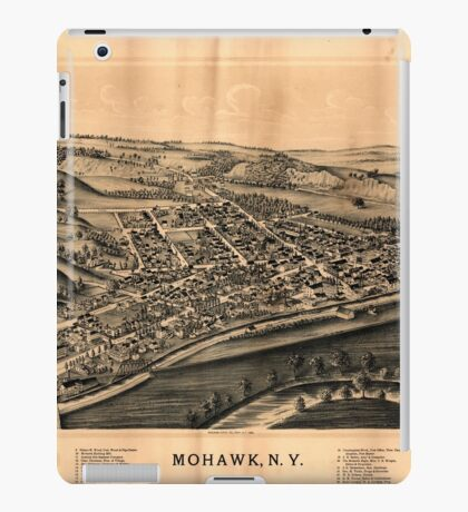 Panoramic Maps Mohawk NY iPad Case/Skin