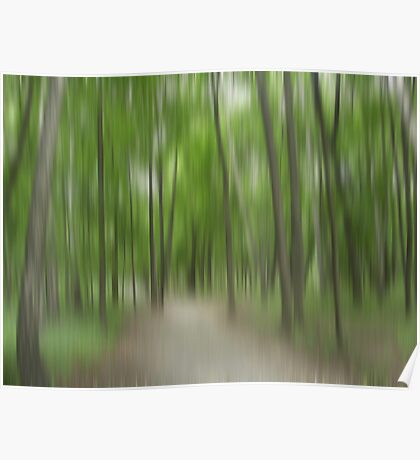 Forrest in Motion - green Poster
