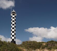 The Black and White Lighthouse by John Sharp