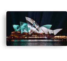 Opera House in Green - Vivid Sydney 2012 Canvas Print