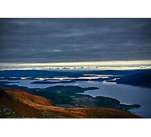 Slowly going up Ben Lomond Photographic Print