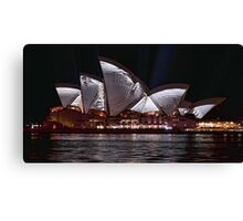 Opera House - Crumpled - Vivid Sydney 2012 Canvas Print