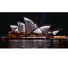 Opera House - Crumpled - Vivid Sydney 2012 Photographic Print