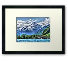 Lake Lucerne. Framed Print
