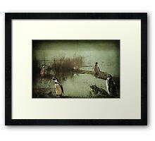 The Penguin Patch Framed Print