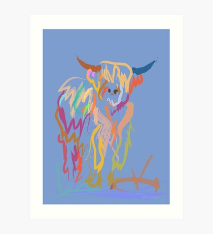 Scottish Highlander Cow Art Print