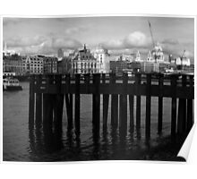 St. Paul's With A Pier Poster