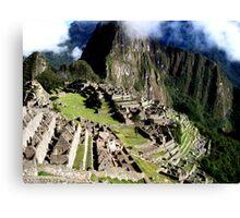 A Morning at Machu Picchu Canvas Print