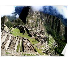 A Morning at Machu Picchu Poster