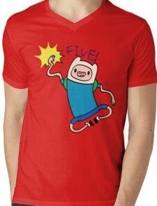 Finn High Five - Part 2 Mens V-Neck T-Shirt