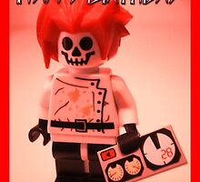 Happy Birthday Greeting Card Professor Boom Custom LEGO® Minifigure with Bomb, by 'Customize My Minifig' by Chillee